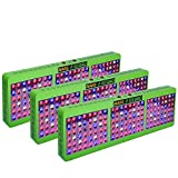[Pack of 3]MarsHdyro Reflector144 LED Grow Light 317W True Watt Panel with Veg Flower Switchable Spectrum