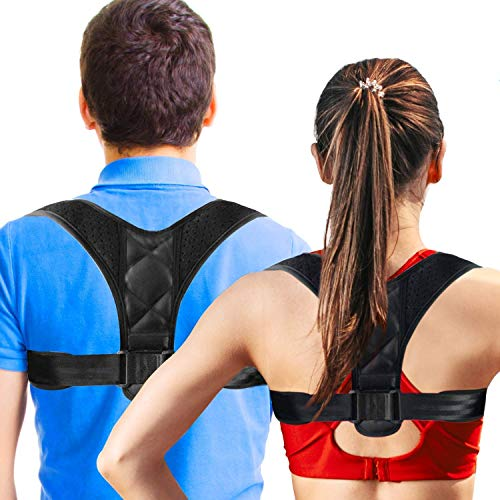 (Posture Brace Adjustable Back Posture Braces Prevent The Hump from Sitting in Front of The Computer for Women and Clavicle Support to Improve Poor Shoulder Posture Back Pain Relief              )