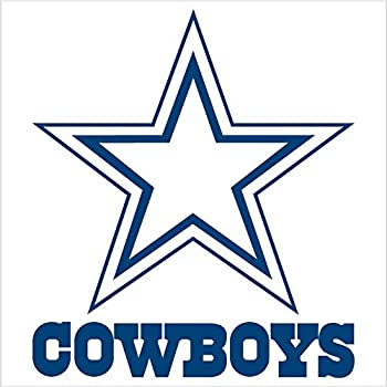 amazon com dallas cowboys team logo sticker decal blue 18 rh amazon com cowboys logo pics cowboys logo pics