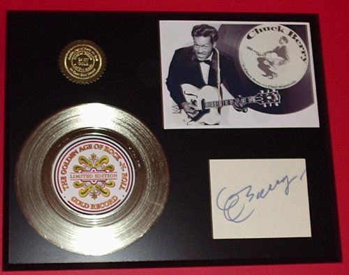 Limited Edition Gold Record (Chuck Berry 24Kt Gold Record Signature Series LTD Edition Display)