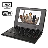 Macoku 7'' HD Mini Netbook Laptop Computer VIA 8880 Cortex-A9 1.2GHz 4GB Storage Android 4.4 Tablet PC Come With USB Mouse and Sleeve Bag - Black