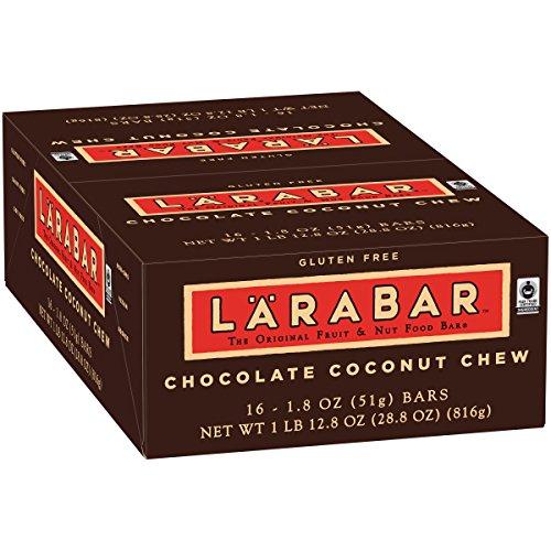 Larabar Gluten Free Bar, Chocolate Coconut Chew, 1.8 oz Bars (16 Count) (Chocolate Chew)
