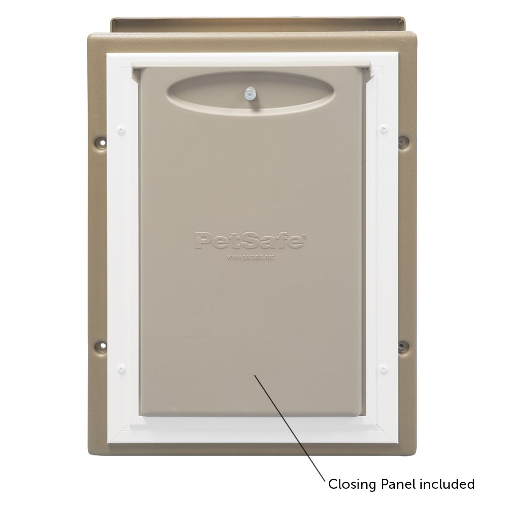 PetSafe Wall Entry Pet Door with Telescoping Tunnel, Medium, Taupe and White by PetSafe (Image #3)