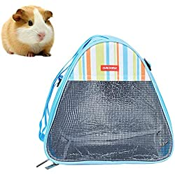 Tfwadmx Hamster Carrier Bag, Guinea Pig Carrier Pouch,Detachable Strap Portable Breathable for Gerbil Chinchilla Chipmunk Squirrel Hedgehog Rat Bunny Small Animals