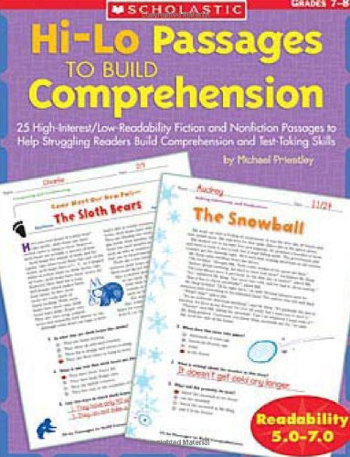 - Hi/lo Passages To Build Reading Comprehension: 25 High-Interest/Low Readability Fiction and Nonfiction Passages to Help Struggling Readers Build Comprehension and Test-Taking Skills