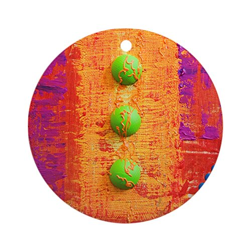 Ornament (Round) Abstract Peace Symbol Sign (Andy Warhol Ornaments)