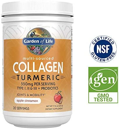 Garden Life Multi Sourced Collagen Turmeric