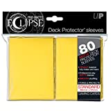 PRO-Matte Eclipse Yellow Standard Deck Protector sleeves (80 count pack)