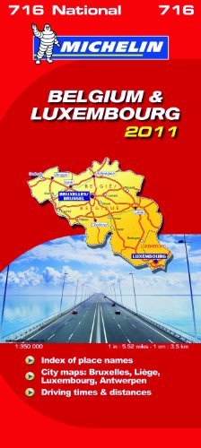 Belgium & Luxembourg National Map 2011 2011 (Michelin National Maps)