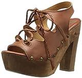 Sbicca Women's Calle Heeled Sandal, Tan, 8 B US