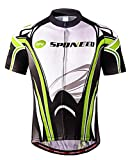 sponeed Cycling Jersey for Men Road Bicycle Shirt Jacket Mountain Shorts Sleeve MTB Jerseys Asia XXL/US XL Green White