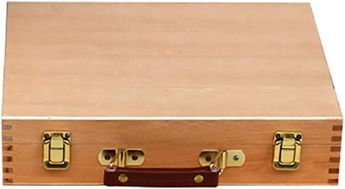 lqgpsx Pintura al óleo Maleta Artista Caja de Mesa de Madera Caja de Pintura de Caballete portátil Escritorio boceto Pintura Hardware Arte Suministros Regalos