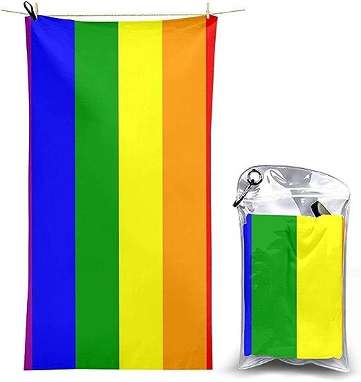 W-wishes Toallas de Playa Sábanas de Toallas LGBT Bandera del Orgullo Gay Fundas para Mantas de baño con Rayas arcoíris Trajes de baño súper absorbentes Toallas: Amazon.es: Hogar