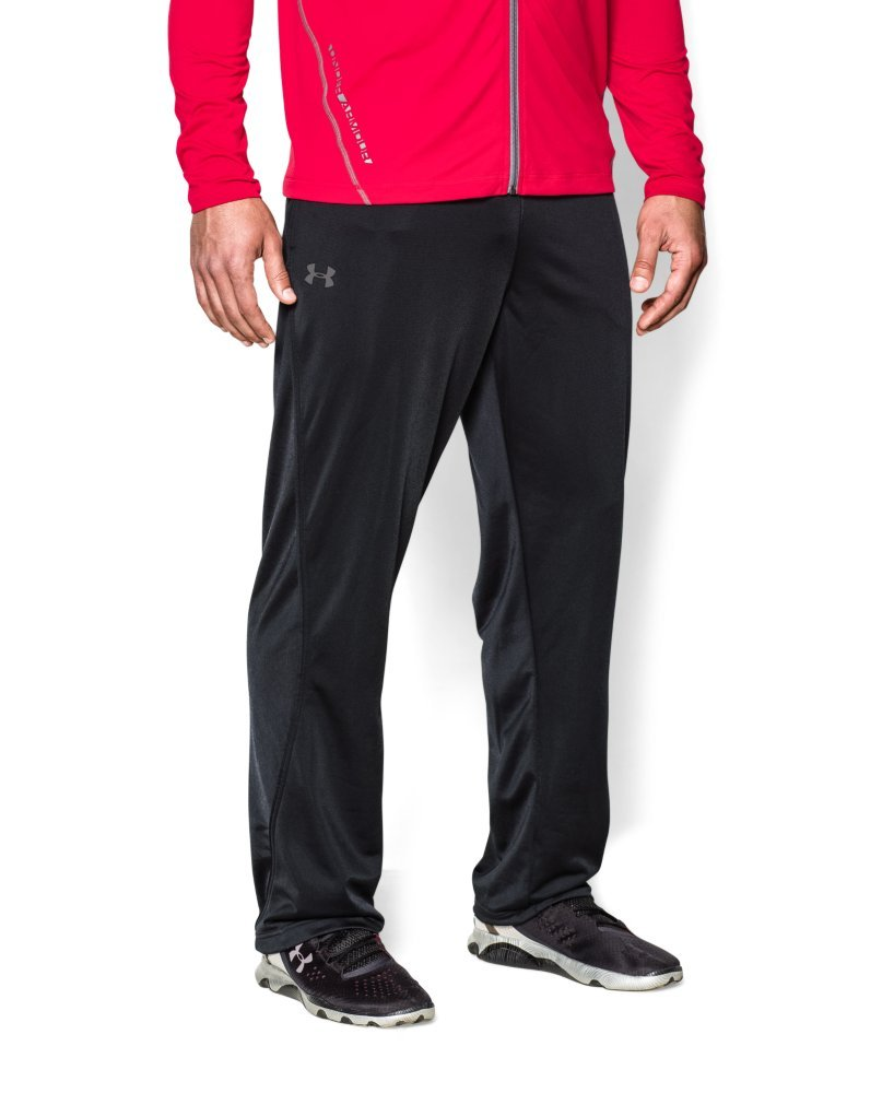 Under Armour Men's Relentless Warm-Up Pants – Straight Leg, Black/Graphite, X-Large by Under Armour (Image #3)