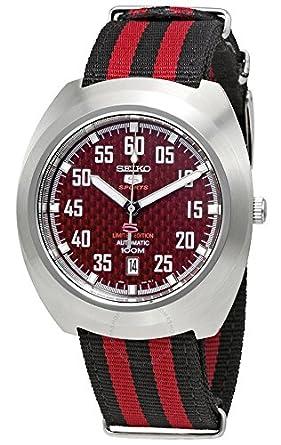 Seiko Reloj Analogico para Hombre de Automático con Correa en Tela SRPA87K1: Amazon.es: Relojes