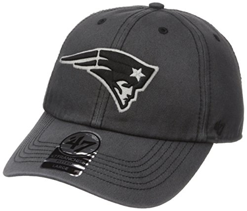 NFL New England Patriots Sachem Franchise Fitted Hat, Medium, Charcoal