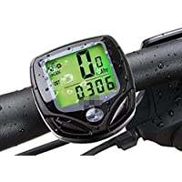 RANIACO Bike Computer, Wireless Cycling Computer Automatic Wake-up Bicycle Speedometer and Odometer with Backlight LCD Display-Tracking Distance Avs Speed Time for Bicycle Enthusiasts