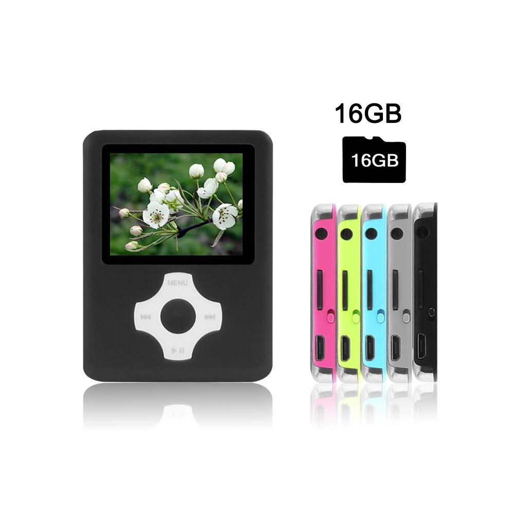 Crillutar 16GB MP3 / MP4 Player Lecteur de Musique avec (Argent)