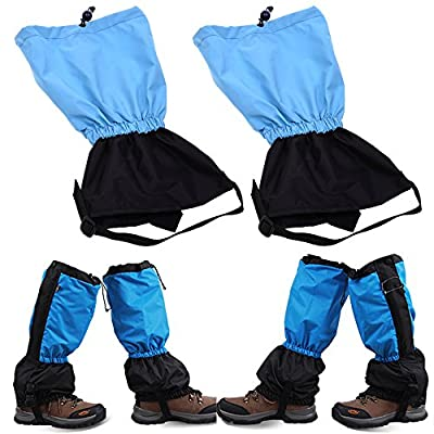 COSMOS Unisex Waterproof Leg Gaiters Leggings Wrap for Hunting, Climbing, Hiking & Other Outdoor Activities (Light Blue)