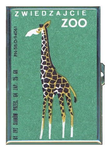 Retro Giraffe European Zoo Double-Sided Cigarette Case, ID Holder, Wallet with RFID Theft Protection (Cigarette Retro)