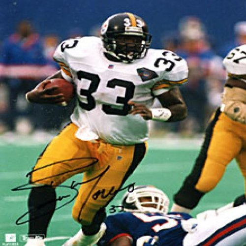 - Byron Morris Autographed / Signed Breaking a Tackle 8x10 Photo