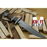 "Knife King ""Emperor"" Custom Damascus Handmade Hunting Knife. Top Quality. Comes Leather Sheath."