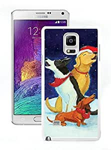 Personalized Christmas Dog White Samsung Galaxy Note 4 Case 42