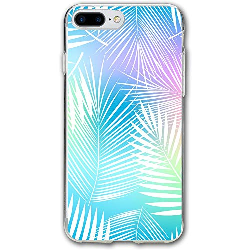(White Leaves Resistant Cover Case Compatible iPhone 7 Plus iPhone 6 Plus)