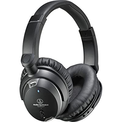Audio-Technica ATH-ANC9 Noise-Cancelling Over-Ear Headphones - INCLUDES - FiiO A1 PLUS Blucoil 6 ft Extender AND Two AAA Batteries - PRO BUNDLE