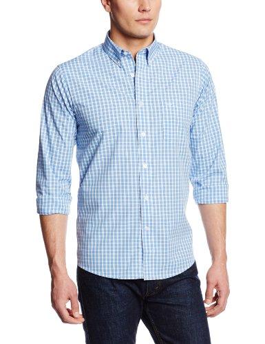 Dockers Men's Framed Gingham Long Sleeve Woven, Meridian Blue, XX-Large