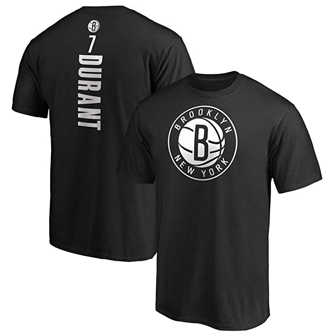 VF LSG Kevin Durant 7# Brooklyn Nets Playmaker Name & Number T-Shirt ¨C Black