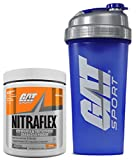 GAT Clinically Tested Nitraflex, Testosterone Enhancing Pre Workout 300 g (30 servings) with BONUS GAT Shaker Bottle (Orange) Review