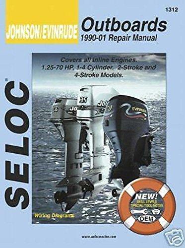 Seloc Marine Johnson Evinrude, 1.25-70 HP, 1990-2001, Out...