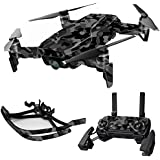 MightySkins Skin For DJI Max Coverage - Black Camo | Protective, Durable, and Unique Vinyl Decal wrap cover | Easy To Apply, Remove, and Change Styles | Made in the USA