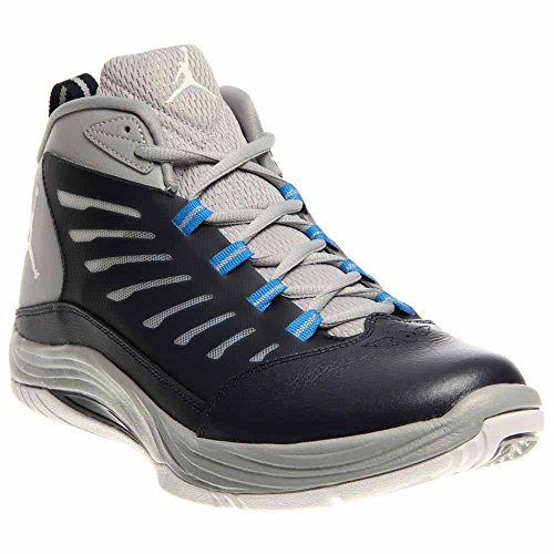 detailed look fca1a fda45 Nike Air Jordan Prime Fly 2 Mens Basketball Shoes 654287-407 Obsidian  White-Wolf