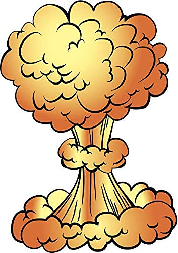 Cool Atomic Bomb Mushroom Cloud Cartoon (8