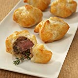 Beef Wellington Bites - A Crowd Pleasing Frozen Gourmet Appetizer (50 Piece Tray)