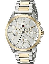 Tommy Hilfiger Womens 1781607 Casual Sport Analog Display Quartz Two Tone Watch