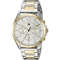 Tommy Hilfiger Women's Sport' Quartz Two-Tone and Stainless Steel Casual Watch, Color:Two (Model: 1781607)