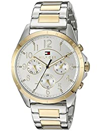 Tommy Hilfiger Women's 1781607 Casual Sport Analog Display Quartz Two Tone Watch