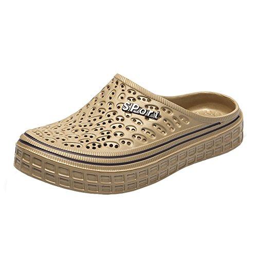 para sandalias de caminar ligeros Unisex playa hombre mujer color caqui transpirable Gaatpot de zapatillas jardín antideslizantes de zapatos zuecos wv76qFq