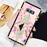 Square Case Compatible Samsung Galaxy S10e Geometric Marble Luxury Elegant Soft TPU Shockproof Protective Metal Decoration Corner Back Cover Case Galaxy S10e Case 5.8 Inch