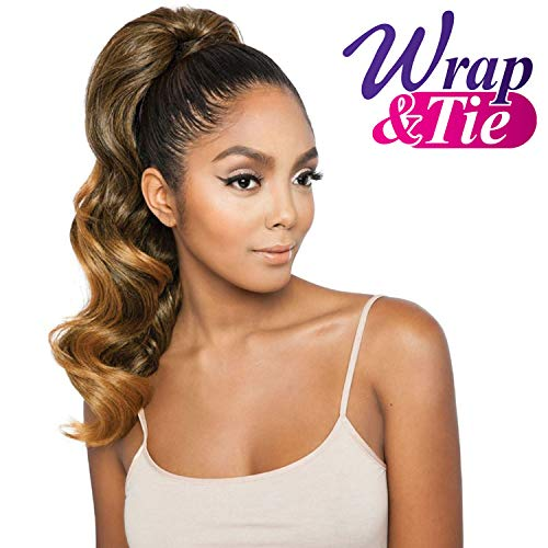 "ISIS Human Hair Blend Ponytail Brown Sugar Wrap & Tie BSWNT03 Glamour Wave Wnt 20"" (1)"