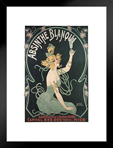 (Poster Foundry Absinthe Blanqui Art Nouveau Liquor Advertisement Art Print Matted Framed Wall Art 20x26 inch)