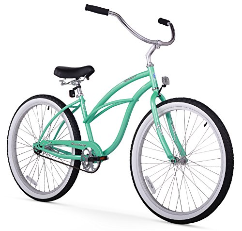 "Firmstrong Urban Lady Single Speed - Women's 26"" Beach Cruiser Bike (Mint Green)"