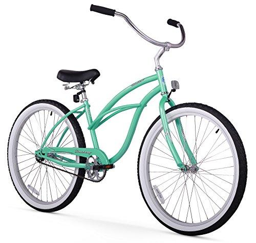 Firmstrong Urban Lady Single Speed - Women's 26' Beach Cruiser Bike (Mint Green)
