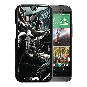 Custom Luxury Cover Case With Angry Batman Black HTC ONE M8 Case