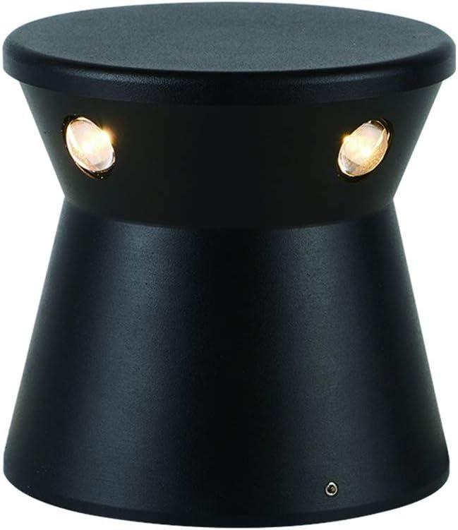 LEDショートコラム4穴の芝生ランプ、屋外防水アルミシェル4面発光ガーデン中庭の風景照明コラムヘッドライト