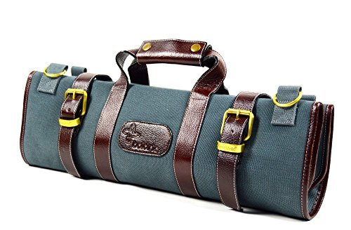 Boldric 17 Pocket Canvas Knife Bag Abalone