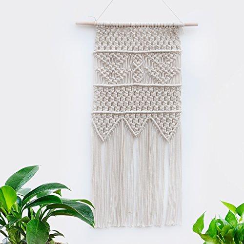 Home Interior Decor - BlueMake Macrame Wall Hanging Tapestry-Home Decorative Interior Wall Decor (17.6